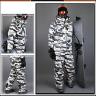 SOUTH PLAY Ski Snowboard Wear Suit Parka Jacket+Pants Light Military SET CAMO