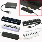 4/7 Port USB 3.0 2.0 1.1 Speed Power HUB ON/OFF Switch for Laptop Macbook PC USA