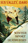 SUN VALLEY IDAHO SKI JUMPING LIKE NOTHING ON EARTH SKIING VINTAGE POSTER REPRO