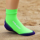 Sand Socks Kid's Classic High Top Athletic Socks - Lime/Purple