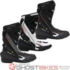 RICHA TRACER CE APPROVED LEATHER HIPORA WATERPROOF TRACK RACING MOTORCYCLE BOOTS
