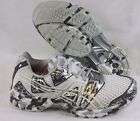 NEW Womens ASICS Gel Noosa TRL 8 T356Q 0191 White Silver Metal Sneakers Shoes