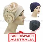 Slip On Cotton Hat Cap Hair Loss Beanie Chemo Head Cover Headcover Flower Small