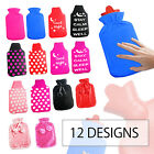 2 LITRE WARM INSULATED HOT WATER BOTTLE COVER SOFT THERMAL COZY SNUGGLE WINTER