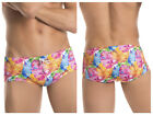 JOR 0285 Fiji Swim Brief tie drawcord waist low rise neon color print microfiber