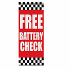 free battery check - Free Battery Check Auto Body Shop Car Repair Double Sided Pole Banner Sign