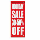 Holiday Sale 30 - 50% Off Custom Double Sided Vertical Pole Banner Sign $126.99 USD on eBay