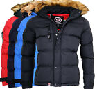 Geographical Norway Herren Winter Jacke Warme Bomber Stepp Jacke Outdoor Kapuzen