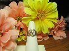 Womens 14k Gold Plated Multi-Stone Cluster Cocktail Fashion Ring