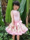 Girls Light Pink Rose Pettiskirt Birthday Party Pageant Wedding Skirt Tutu 1-7Y