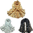 Women's Fashion Musical Note Chiffon Neck Scarf Shawl Scarves Long Beauty