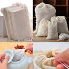 10/50/100Pc 8x10 New Cotton Muslin Drawstring Reusable Bags for Soap Herbs Tea
