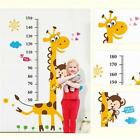 Giraffe Wall Sticker Decal Removable Baby Kids Child Height Chart Measure Decor