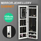 Mirror Jewelry Cabinet Armoire for Mirror Rings Necklaces Bracelets Wall Mount