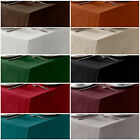 Contemporary & Plain Table Cloth in Round / Square or Rectangle Shape