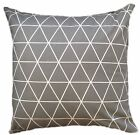 "1 CUSHION COVER- dark grey triangles geometric 16,18"" 20"" 22"" 24""  NEW IN"