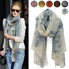 Celeb Retro Chinese blue and white porcelain Print Long Scarf Shawl Wrap Scarves