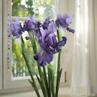 1/5/10pc Artificial Iris Flower Bouquet Home Garden Wedding Party Decor Lavender