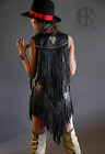 Fringe and Bling Leather Vest