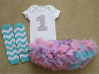 baby first birthday onesies girl - 1st Birthday Girl Outfit, Pastel Rainbow Bodysuit Tutu Legwarmers, First Baby