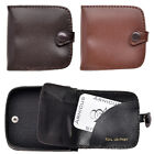 Arnicus Mens Genuine Grained Leather Square Tray Purse with Note Section