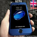 Skin feel Full Body Shockproof Ultra thin Case Tempered Glass For iPhone 5 6 S 7