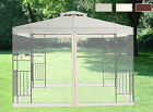 Pavilion Metal Gazebo Sun Shade Marquee Mosquito Net Fly Screen Netting Greenbay