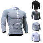 Kyпить Men's  Long Sleeve Casual Luxury Shirt Slim Fit T-shirt Shirts Fashion Tops Hot_ на еВаy.соm