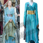 Game Of Thrones Queen Cersei Lannister Cosplay Costume Fancy Ball Blue Dress