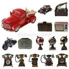 Vintage Resin Car/Telephone/Globe Shapes Money Box Piggy Storage Bank Toy Gift