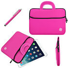 "Universal 7""- 8.4"" Inch Tablet Slim Sleeve Case Cover Bag Handle + Stylus Pink"