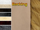"""Faux Fur Long Pile Bonded Shagg Suede Backing Fabric 60"""" Wide Sold by The Yard"""