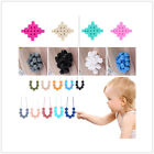 Teether BPA-Free Polygon Bead Charm Necklace Baby Silicone Teeth Chain Necklace