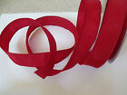 Cherry Red Sheen Heavy Brocade - Luxury Wire Edged Ribbon - LAST STOCK