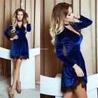 New Fashion Women Sexy V-Neck Lint Lace Patchwork Pleated Tunic Pullover B20E