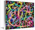 Cosmic Etude - Abstract painting image on wrapped canvas, by Galina