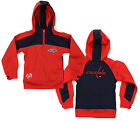 Reebok NHL Youth Girls Washington Capitals Active Half Zip Pullover Hoodie