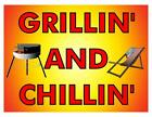 Custom Made T Shirt Grilling and Chillin' BBQ Grill Camp Chair Men Women Summer