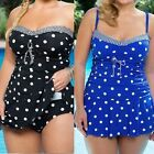 Fashion Women Dot Oversize Bikini Set Tankini Summer Swimwear Bath Suit Girls