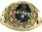 Men's 5c Colorful Oval Mystic Topaz Ring   Amazing Color  ** 31513
