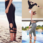 Women Wrap Yoga Fitness Pants Dance Ballet Sports Gym Leggings Jumpsuit Trousers