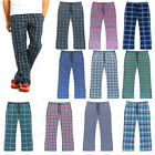 Mens Checked Woven Lounge Pants Pyjama Bottoms Pj's Pyjamas Sleepwear Cotton Mix
