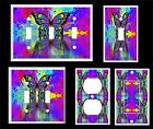PSYCHEDELIC BUTTERFLY REFECTION #2  ~ LIGHT SWITCH COVER PLATE