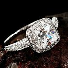 Solid 925 Sterling Silver Created Diamond Women's Wedding Engagement Ring R173