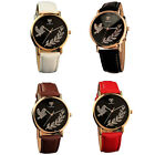 Fashion Womens PU Leather Quartz Watches Sports Watches Casual Dress Wristwatch