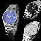 Stainless Steel Band Men's Watch Date Analog Quartz Sport Wrist Watch