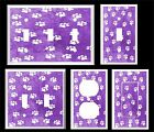 WHITE PAW PRINTS ON PURPLE ~  LIGHT SWITCH COVER PLATE