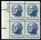 "Scott # 1213b 5¢ George Washington  ""TAGGED""  Plate Block Mint NH"