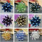 Womens Flower Teardrop Crystal Glass Faceted Beads Finger Ring US 7.5 Adjustable