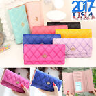 2017 Lady Women Clutch Long Purse Leather Wallet Card Holder Handbag Bags Purse